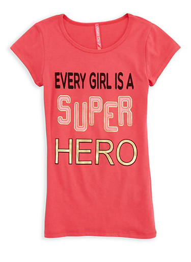 Girls 7-16 Superhero Graphic T Shirt | Tuggl