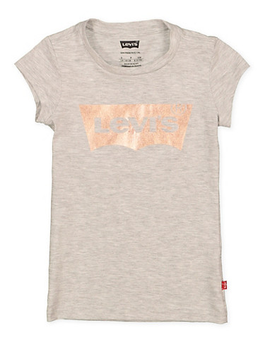 Girls 7-16 Levis Foil Graphic Tee | 1635070340014,HEATHER,large