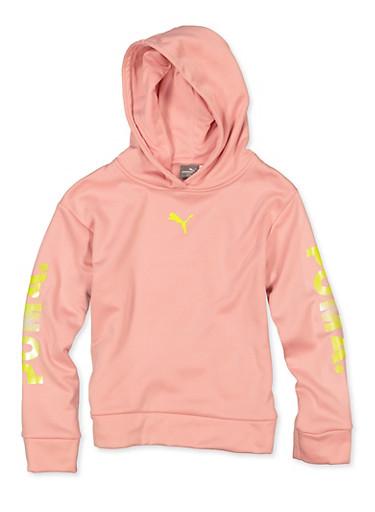 Girls 7-16 Puma Pullover Sweatshirt,PINK,large
