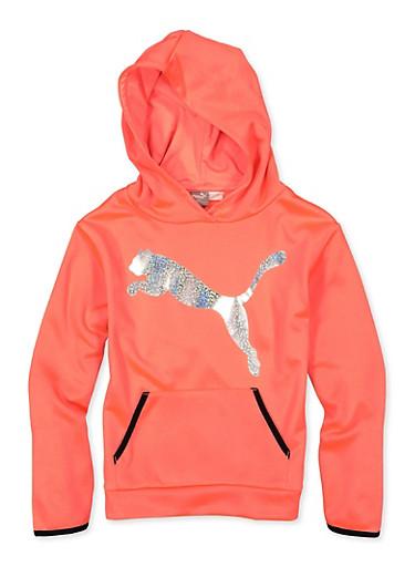 Girls 7-16 Puma Foil Graphic Sweatshirt,PINK,large