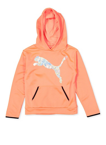 Girls 7-16 Puma Holographic Sweatshirt,PINK,large