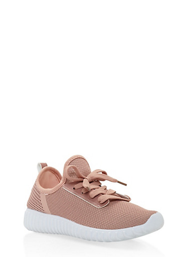 Girls 12-4 Knit Athletic Sneakers | Tuggl