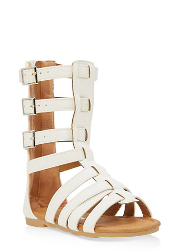 Girls 5-10 Tall Gladiator Sandals | Tuggl