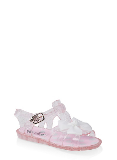 490e0f249f09 Girls 7-10 Bow Jelly Sandals