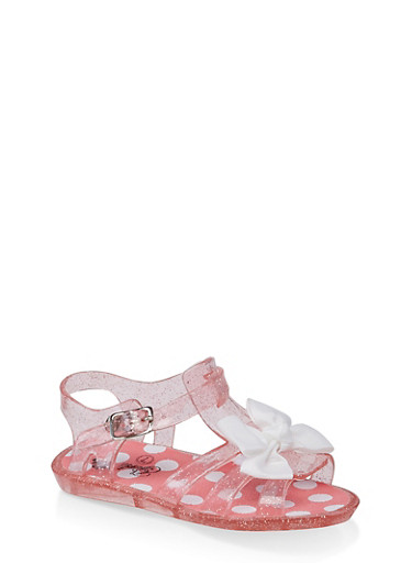 Girls 7-10 Bow Jelly Sandals | Coral,CORAL,large
