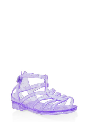 Girls 5M-12 Glitter Jelly Gladiator Sandals | Tuggl