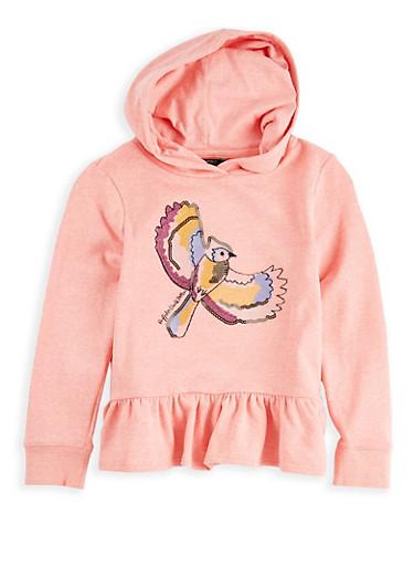 Girls 7-16 Buffalo David Bitton Embroidered Peplum Sweatshirt,PINK,large