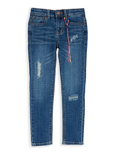 Girls 4-6x Lucky Brand Distressed Denim Jeans,MULTI COLOR,large