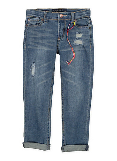 Girls 4-6x Lucky Brand Distressed Jeans,MULTI COLOR,large