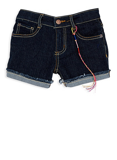 Girls 4-6x Lucky Brand Denim Shorts,MULTI COLOR,large