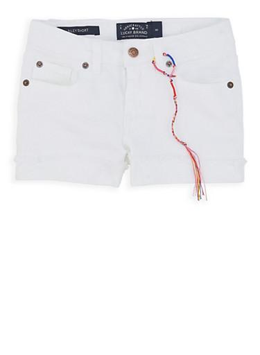 Girls 4-6x Lucky Brand Denim Shorts,MULTI COLOR,large