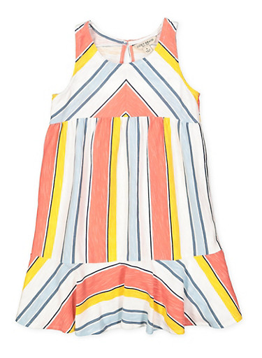 Girls 4-6x Lucky Brand Striped Shift Dress | Tuggl