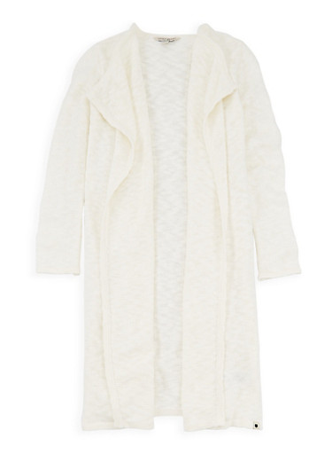 Girls 7-16 Lucky Brand Chunky Knit Duster,IVORY,large