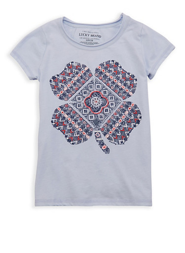 Girls 7-16 Lucky Brand Graphic Tee,MULTI COLOR,large