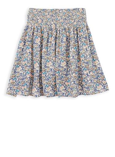 Girls 7-16 Printed Skater Skirt,MULTI COLOR,large