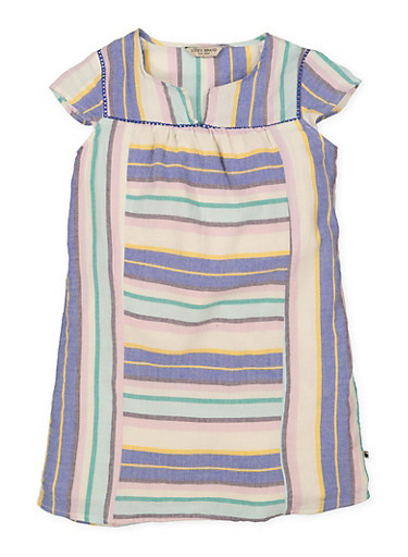 Girls 7-16 Lucky Brand Striped Dress,MULTI COLOR,large