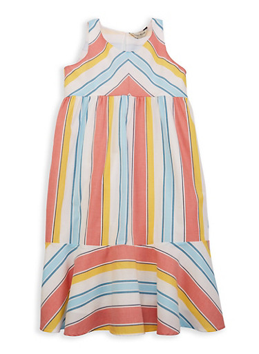 Girls 7-16 Lucky Brand Striped Sundress,MULTI COLOR,large