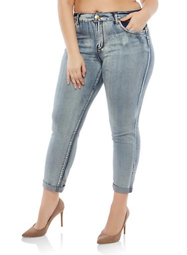 Plus Size VIP Push Up Jeans,DENIM,large