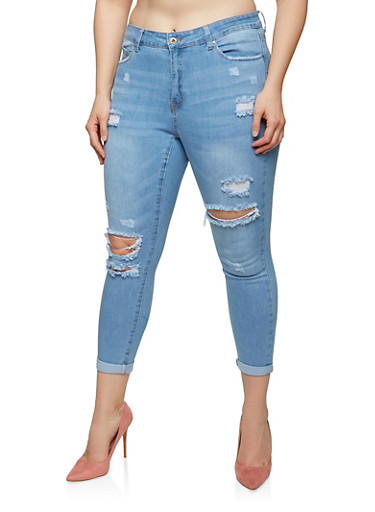 Plus Size WAX High Waisted Skinny Jeans | Tuggl