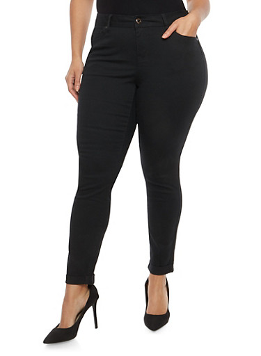 Plus Size WAX Colored Skinny Jeans | Tuggl