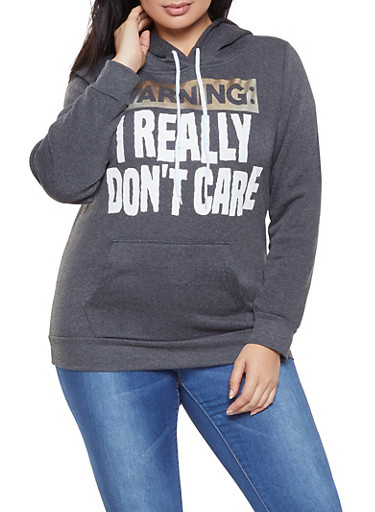 Plus Size Foil Graphic Sweatshirt,CHARCOAL,large