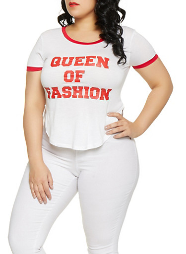 95bf98d6ab2 Plus Size Queen Of Fashion Graphic Tee - Rainbow