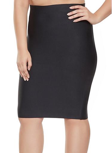 Plus Size Bandage Pencil Skirt,BLACK,large