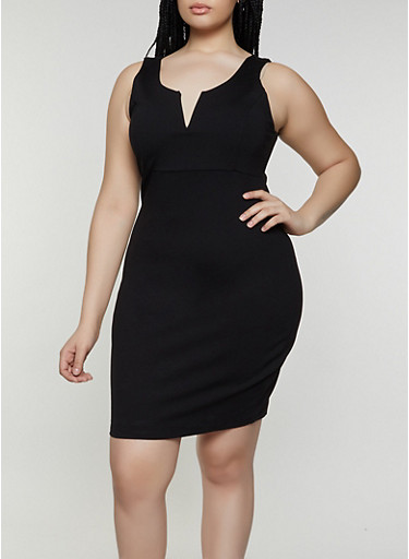 Plus Size Bodycon Ponte Dress