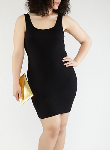 Plus Size Knit Tank Dress | Tuggl