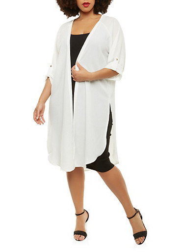 Plus Size Open Front Duster | Tuggl