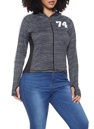 Plus Size Love Graphic Active Sweatshirt,CHARCOAL,large