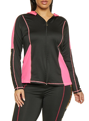 Plus Size Work It Out Active Top,BLACK,large