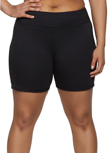 bb43647403ce Plus Size Tummy Control Bike Shorts - Rainbow