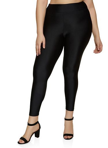 Plus Size Active Leggings,BLACK,large