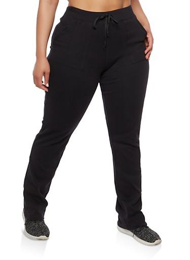Plus Size Sweatpants,BLACK,large
