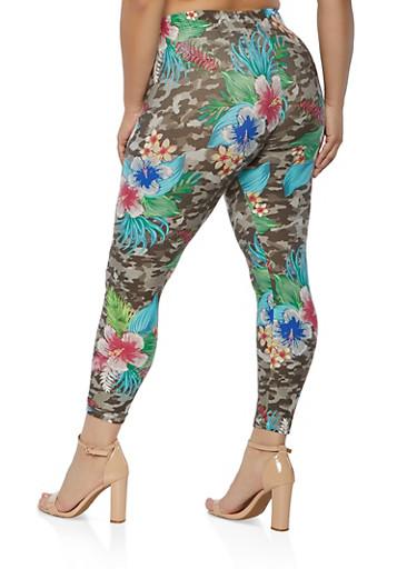 Camo bell bottomsKhaki green camo detailed flare pantsWomen leggingsPlus size bell bottomsYoga pants70s clothingFestival PantsGifts