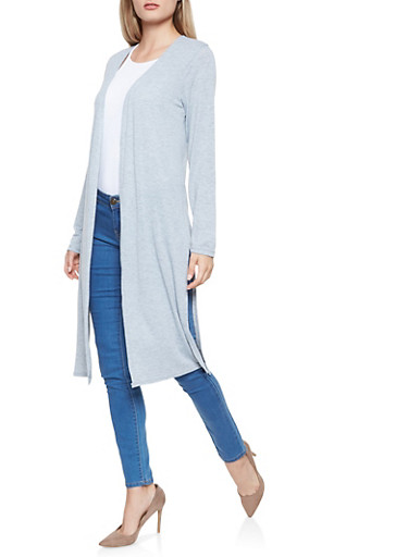Open Front Duster,GRAY,large