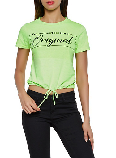 Im Not Perfect But Im Original Tee,NEON LIME,large