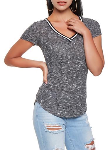 Soft Knit Top,BLACK,large