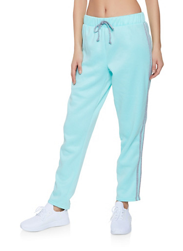 Varsity Stripe Sweatpants,MINT,large