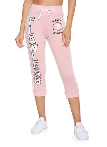 Flawless Graphic Capri Sweatpants,MAUVE,large