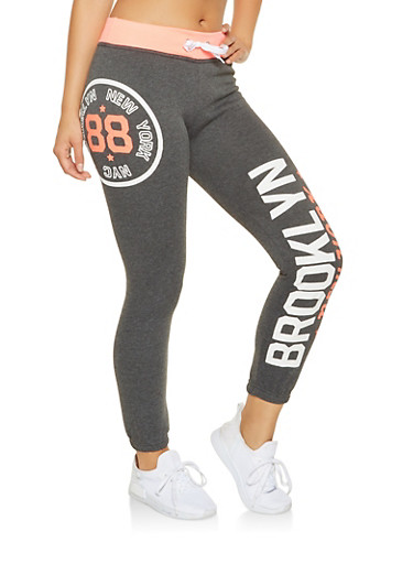 Brooklyn Graphic Sweatpants,CORAL,large