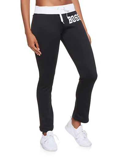 Boss Graphic Sweatpants,BLACK/WHITE,large