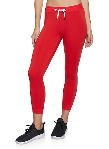 Fleece Lined Joggers | 3056038347253,RED,large
