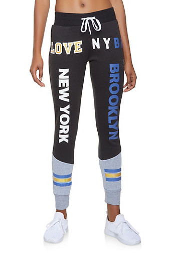 Love Graphic Joggers,HEATHER,large