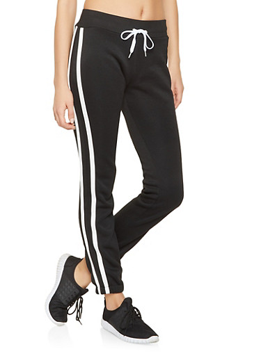 Varsity Stripe Sweatpants,BLACK,large