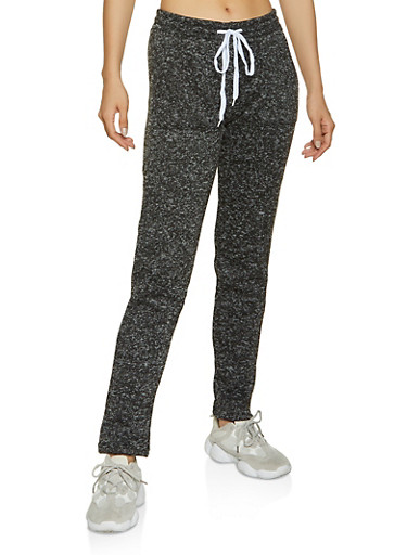 Knit Marled Sweatpants,CHARCOAL,large