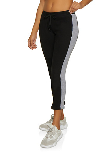 Side Stripe Thermal Pants,BLACK,large