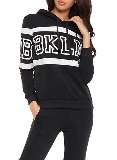 BKLN Graphic Sweatshirt,BLACK,large