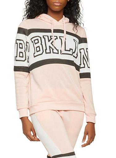 BKLN Graphic Sweatshirt,MAUVE,large